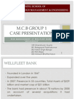Risk Management at Wellfleet Bank
