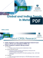 Global and Indian Trends in Metal Industry Ashutosh Satsangi