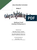 Teaching Guide-ikatlong yunit araling panlipunan II