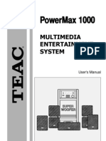 TEAC POWERMAX 1000 USER MANUAL