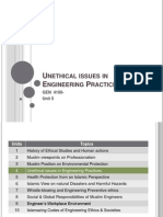 Unethical issues in Engineering Practices presentation