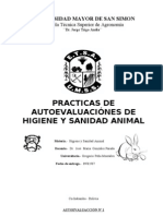 AUTOEVALUACCIÓN DE HIGIENE Y SANIDAD ANIMAL