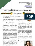 Rangers 2012 Newsletter (Full)