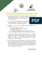 Porosity Problems Sheet