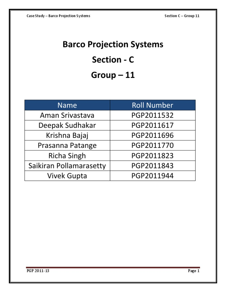 barco sony production study