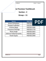 Colgate Precision Toothbrush Case Study Analysis