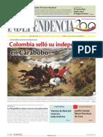 1821 Colombia selló su independencia en Carabobo