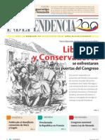 1848 Liberalesy Conservadores se enfrentaronen las puertas del Congreso
