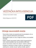 Ucenje neuronskih mreza