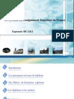 Le systeme du enseignment supérieur en France