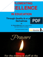 IMPLEMENTING EXCELLENCE IN EDUCATION Through Quality & e-Learning Derivatives