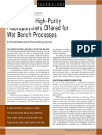 A Primer on High-Purity Fluoropolymers Offered for Wet Bench Processes