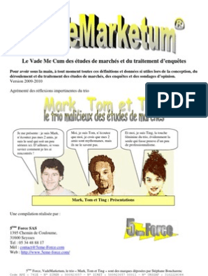 Vademarketum, la compilation des informations indispensables