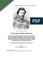 li Exovede & Métis Names List