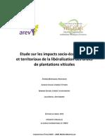 Etude sur le droit de plantation pour l'Assemblée des régions européenne viticoles