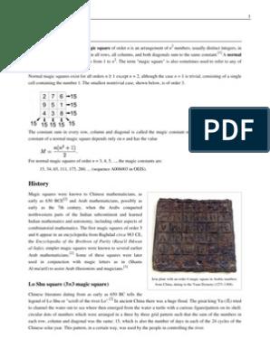 Magic Square | Physics & Mathematics | Mathematics