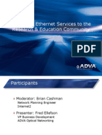 Delivering Ethernet Services to the Research & Education(1)
