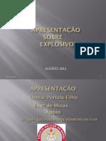 APRESENTAÇÃO SOBRE EXPLOSIVOS  BOMBEIROS  (OFICIAL)