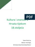 Kultura i Znanost u Hrvata Tijekom 18