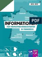 INFORMATIONEN FÜR FREMDSPRACHENASSISTENTEN IN FRANKREICH