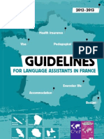 Guidelines for language assistants in france 2012-2013