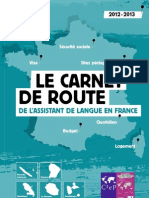 LE CARNET DE ROUTE DE L'ASSISTANT DE LANGUE EN FRANCE