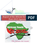 Report of the African Youth Survey on Post-2015 Development Agenda.
