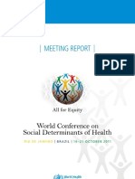 I World Conference Final Report Social Determinants of Health Rio, Brazil 19-21oct2011