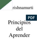 Krishnamurti - Principios Del Aprender