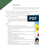 trabajo escolar definición derechos y obligaciones de los niños
