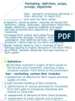 agriculture marketing notes