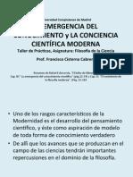 1. La conciencia científica moderna