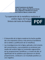 3. Carnap La Superacion de La Metafisica