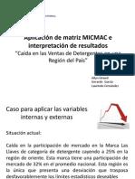 Aplicacion de Matriz MICMAC