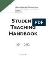 IUP Student Teacher Handbook