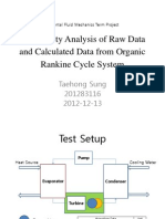 Uncertainty Analysis of Raw Data and Calculated Data From Organic Rankine Cycle System