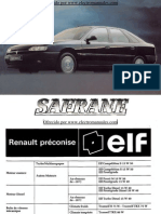 Manual del usuario del Renault Safrane 1992