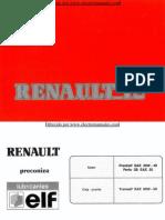 Manual del usuario del Renault 12 de 1990