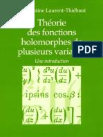 Theorie des fonctions holomorphes de plusieurs variables