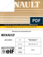 Manual del usuario del Renault 21 de 1990