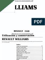 Manual del usuario del Renault Clio Williams de 1995