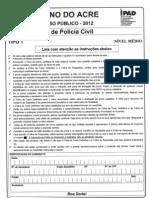 Escrivão de Policia civil Acre 2012