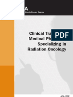 Clinical Training MP Specializing in Radiation Oncology