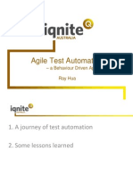 Iqnite 2012 Agile Test Automation - A Behaviour Driven Approach