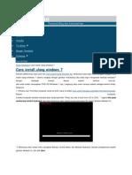 cara instal windows 7