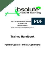 Forklift trainee handbook