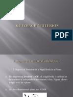 Kutzbach Criterion