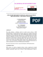 Csfs of Erp Implementations in Large Scale Indian Organizations a Multiple Case Study