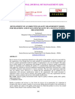 Development of an Objective Quality Measurement Model for Measuring and Evaluating Quality of a Manufacturing Organization