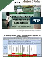 CRITERIOS OPERATIVOS PARA LA VALORACIÓN DE ESTÁNDARES DEL DESEMPEÑO DOCENTE